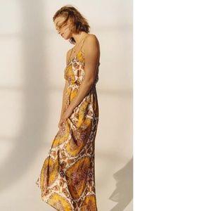 nwt ANTHROPOLOGIE MEDALLION MAXI DRESS